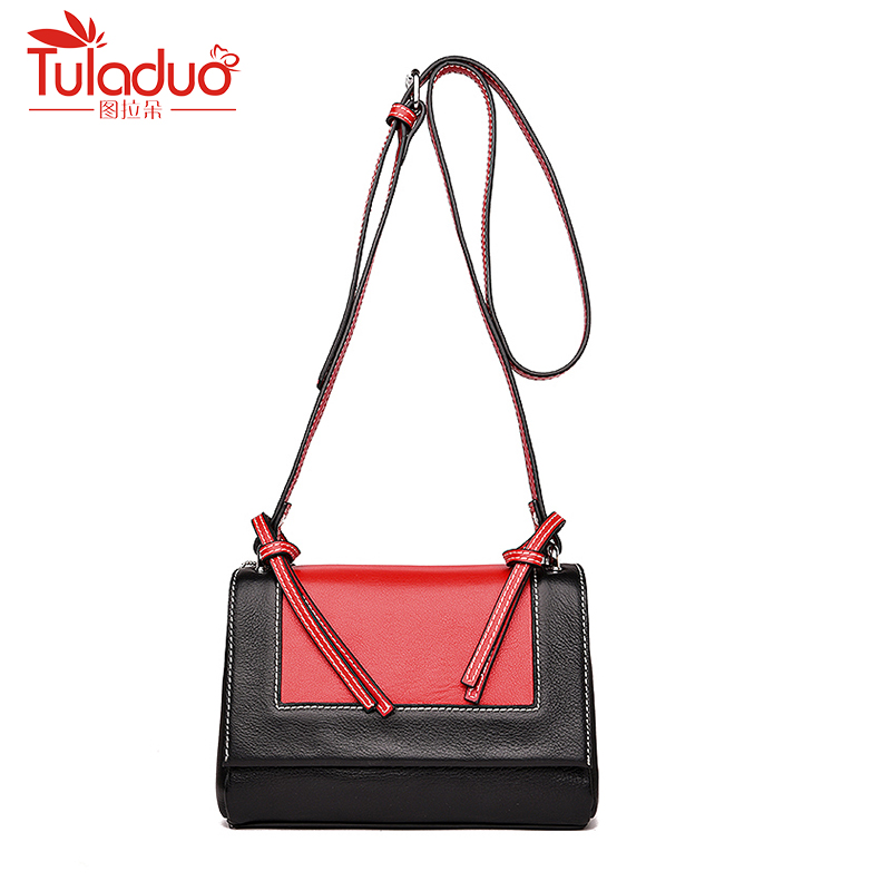 Fashion Genuine Cow Leather Women Handbags Vintage Flap Women's  Bag Ladies Messenger Bags Panelled Womens Crossbody Bag SAC new arrival 2017 vintage cow leather handbags women genuine leather shoulder bags boston bag fashion ladies crossbody bag
