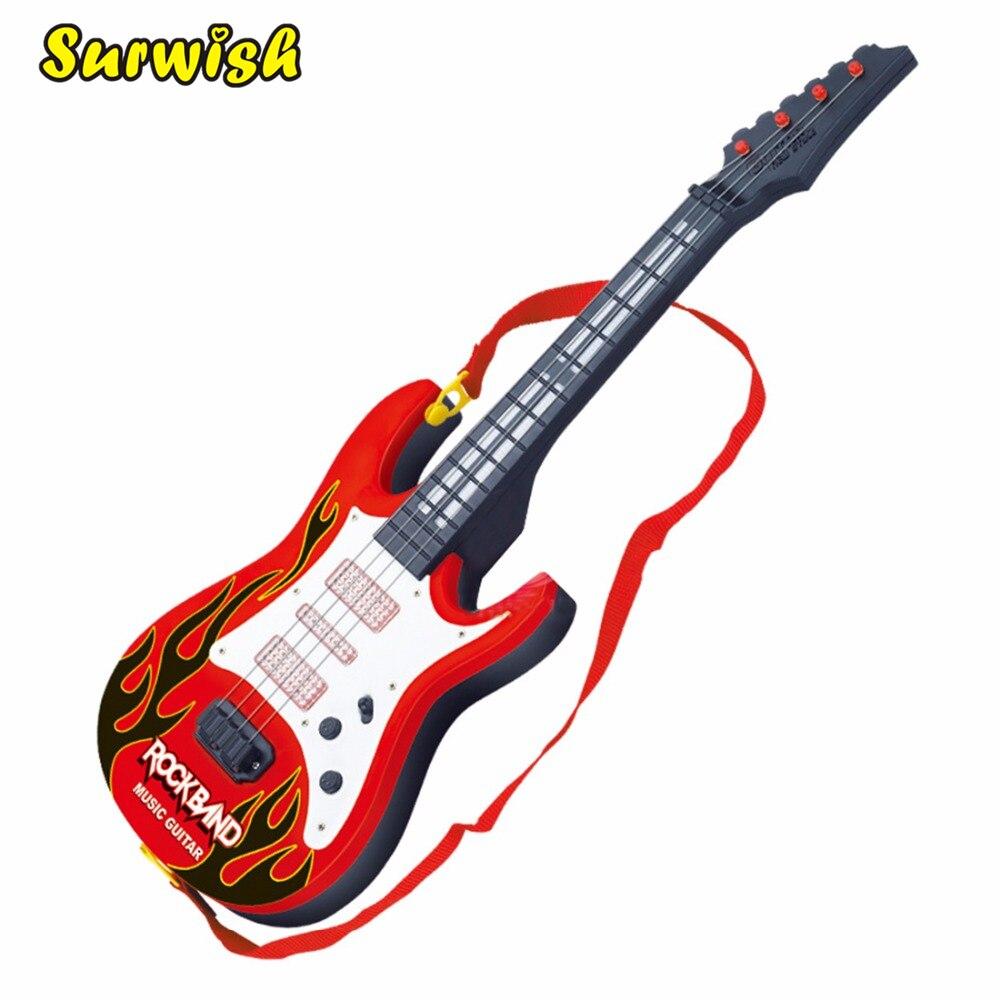 surwish rock band musik elektrische gitarre 4 saiten kinder musical
