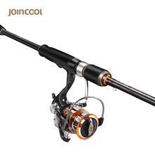 Cheaper Joincool MWS spinning lure fishing rod Combo Set 40T Carbon 9+1BB Spinning Reel 5.3:1 Telescopic Fishing Rod for lure fishing