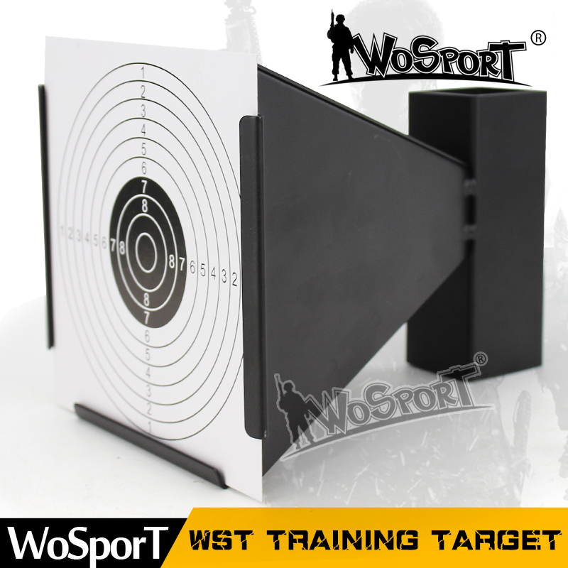ФОТО WOSPORT WST Outdoor Indoor Durable Steel Target for Archery Airsoft BB Gun Shooting Trainning Activities 100 Sheets Paper Free