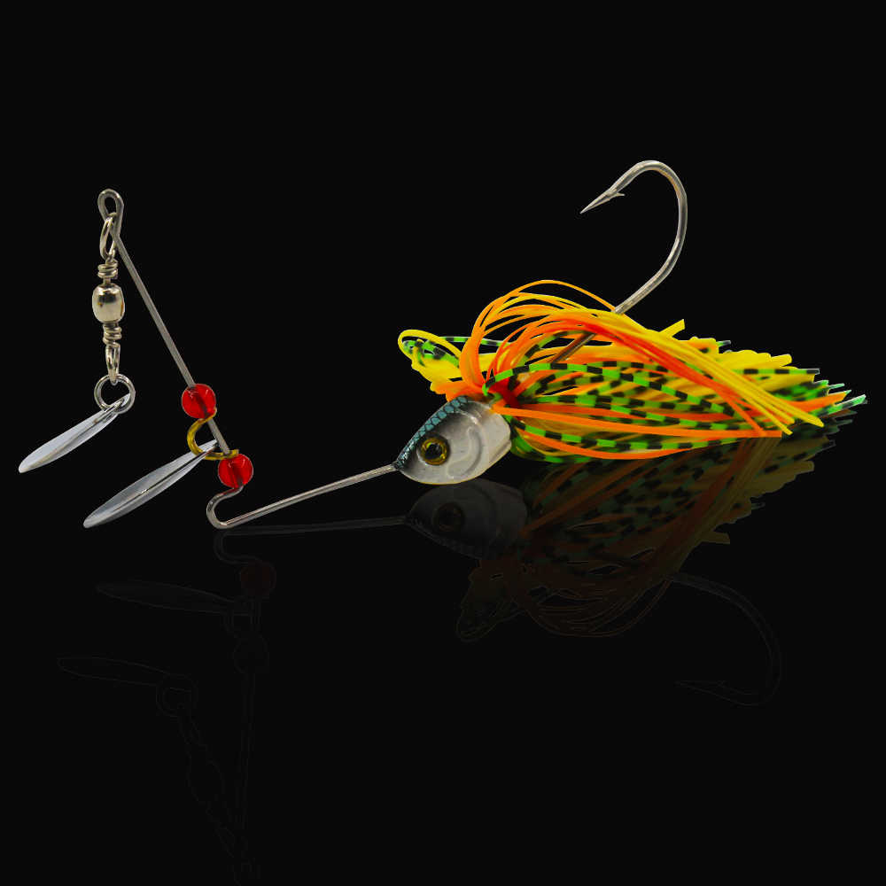 JSM 10 Pcs/lot Memancing Sendok Umpan Pemintal Umpan Bass Pike Memancing Orang Yg Tak Dpt Dipercaya Logam Umpan Spinnerbait Isca Buatan Keras