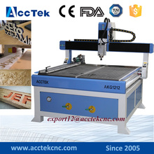 Jinan Acctek T slot and vacuum table combined cnc lathe machine prices 1212 cnc wood carving