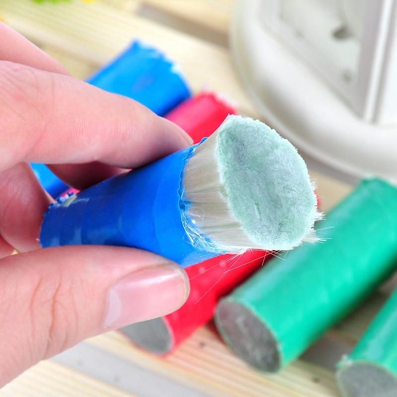 2 шт. Magic Нержавеющаясталь Металл ржавчины чистящие средства Стик Кисть (разные цвета)