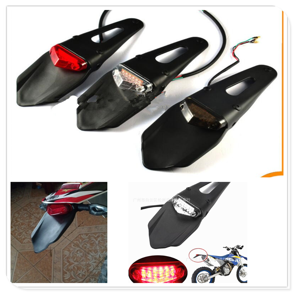new Motorcycle  dirtbike Fender Mudguard  Brake Stop Rear Tail Light lamp for YAMAHA YZ250FX YZ450FX WR250 450 WR250F WR450F title=