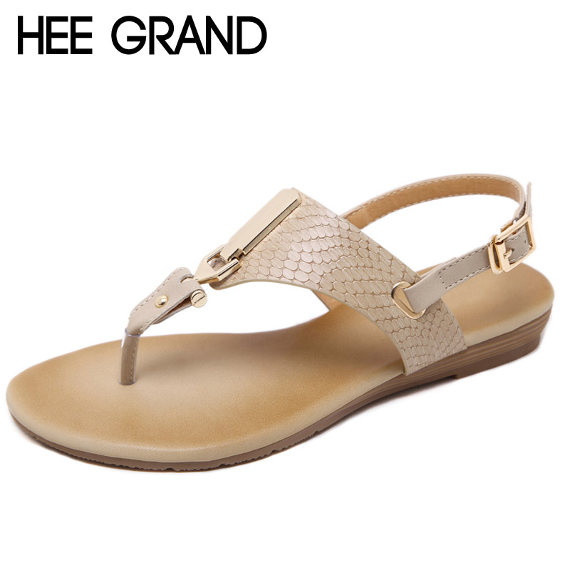 HEE GRAND 2017 New Gladiator Sandals Platform Flats Shoes Woman Summer Flip Flops Casual Slip On Women Shoes Size 35-41 XWZ3911 phyanic 2017 summer gladiator sandals straw platform creepers silver shoes woman buckle casual women flats shoes phy4046