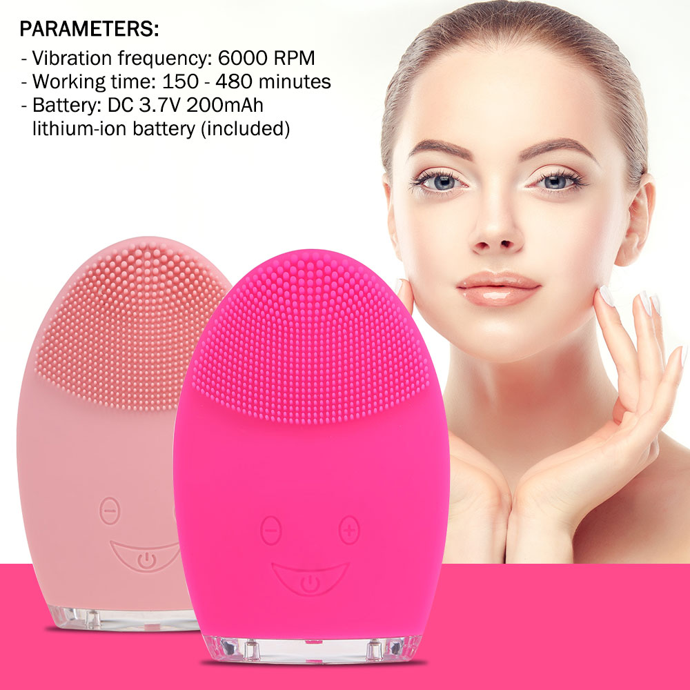 Mini Elektrische Gesicht Reinigung Pinsel Wiederaufladbare Silikon Gesichts Cleansing Tief Poren Reinigung Wasser-Beständig Vibrierender Massager