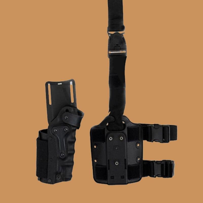 Tactical Holster Set w/ leg Platform Hunting Right Left Hand Use Drop Leg Hoster for GL 17 19 22 23/ 1911 / M92 M9