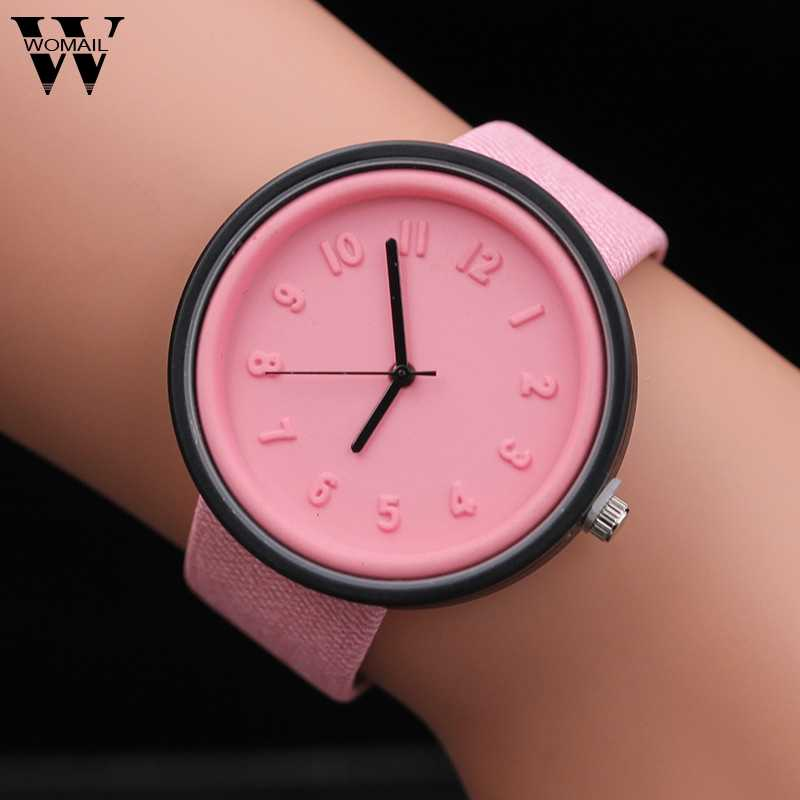 Watches For Women Bracelet Unisex Simple Fashion Number Watches Quartz Canvas Belt Wrist Watch Clock Dress Wristwatch Luxury