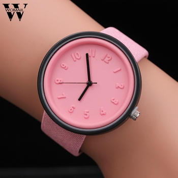 Zegarki dla kobiet bransoletka Unisex prosta moda zegarki numeryczne kwarcowy pasek płócienny zegarek na rękę zegarek na rękę zegarek luksusowy tanie i dobre opinie QUARTZ Skóra wdrażania wiadro Stop Nie wodoodporne simple 20mm ROUND Brak Szkło 7487258141 24cm Z tworzywa sztucznego