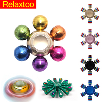 Metal Fidget Spinner Hand Gem Peacock DIY Rainbow Candy Handspinner Toys for Kids Relief Anti Stress Figet Finger Spinners Gift