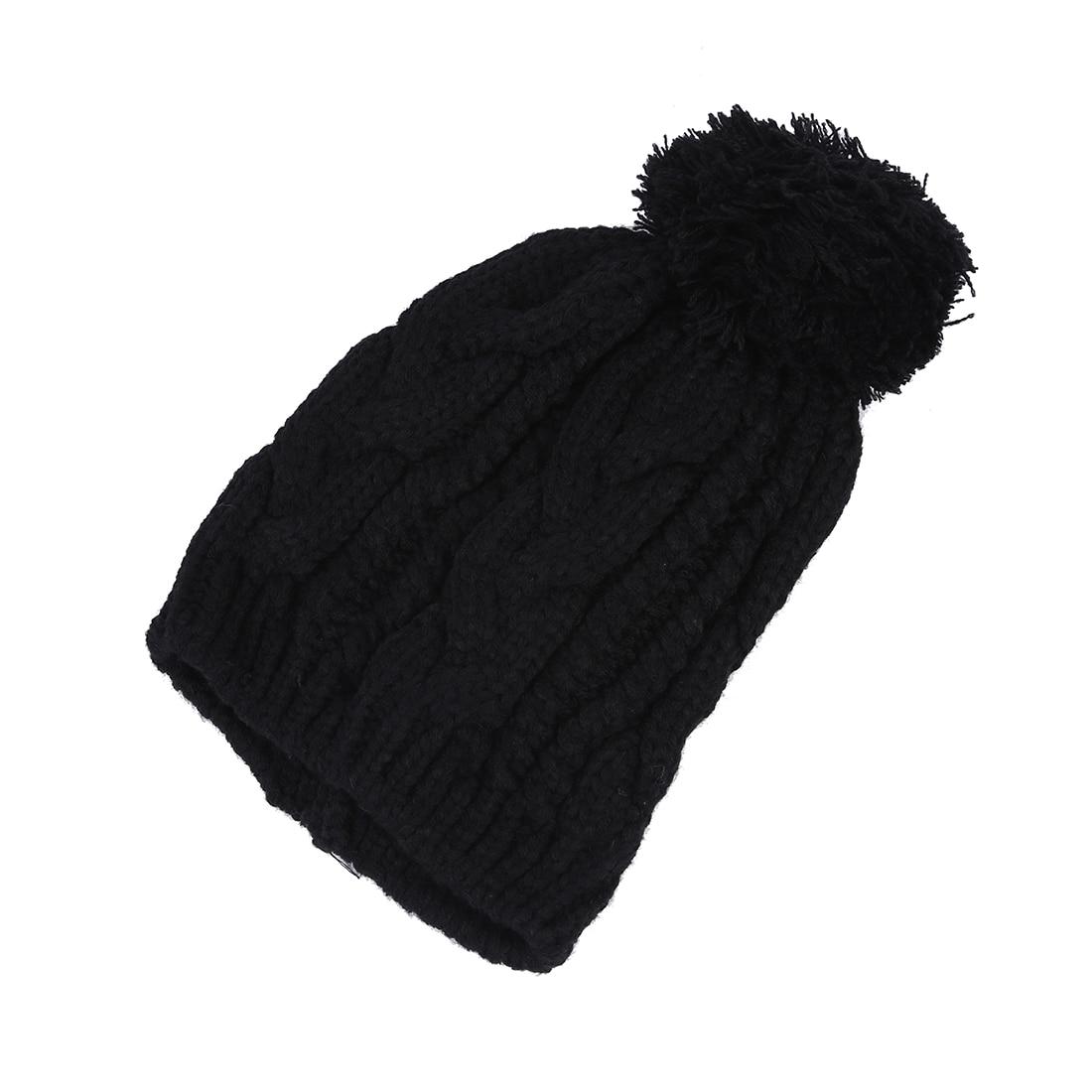 MYPF-Warm Winter Unisex Men Women Crochet Knit Bobble Beanie Baggy Hat Cap hot winter beanie knit crochet ski hat plicate baggy oversized slouch unisex cap