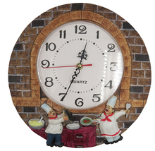 Resin Wall Clock Hand Painted Quiet Kitchen And Any Room Decor
