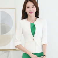 Spring 2017 OL Long Sleeved Workwear Blazer Traditional Classic Occupation Ladies Work Uniforms Job Interview