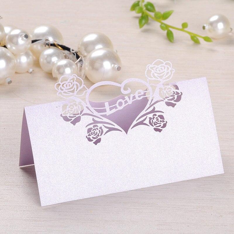 12pcs lilac laser cut love heart name place card escort card tabel card seats card party wedding invitations favors decor en y tarjetas de