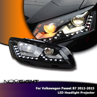 NOVSIGHT 2X LED Projector Headlights Assembly DRL Fog Light For VW Passat B7 2012 2015 US Version