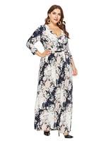 White Women Ladies 3/4 sleeve V neck Bandage Long dress Dress Cocktail Polyester Brand new Stylish Fashionable