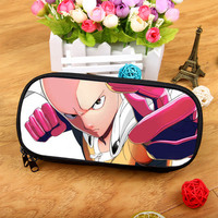 Anime ONE PUNCH-MAN Large-capacity fashion zipper cosmetic bag pencil purse student birthday gift Christmas gift