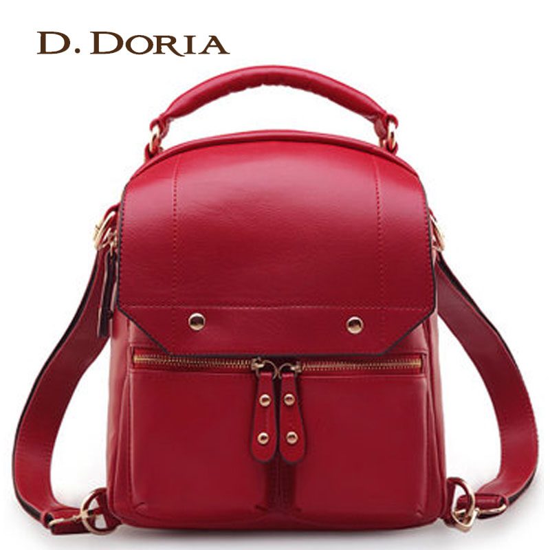 2014 red backpack women s vintage preppy style backpack multifunctional women s backpack high quality brand