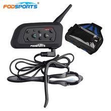 Fodsports V6 Pro For Football Referee Judge Bike Motorcycle Bluetooth Helmet Headsets Intercom With Armband Wireless Bluetooth
