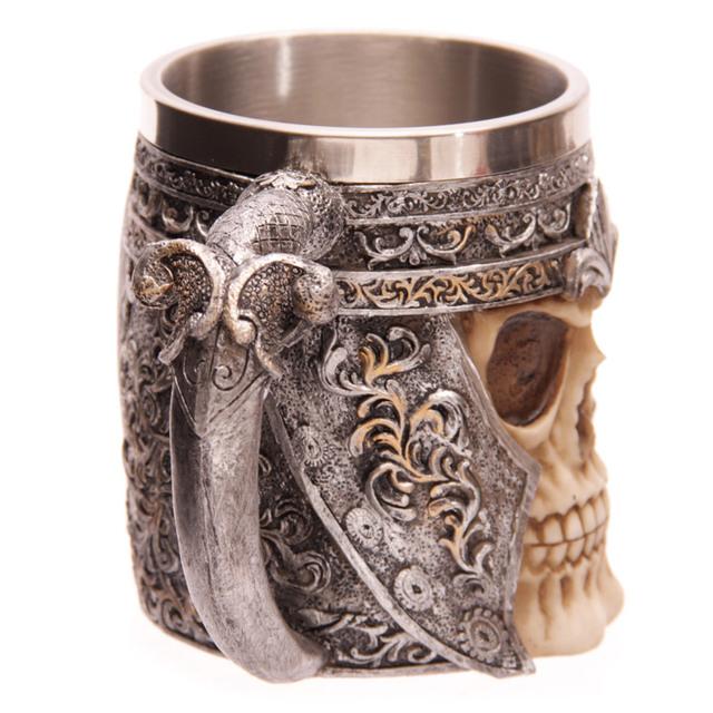 Gothic Skull Warrior Viking Beer Mug