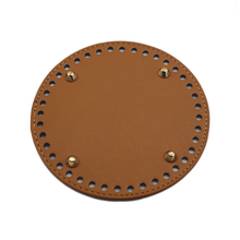 14*14cm Bag Bottoms Leather Accessories Handmade DIY Replacement Round Brown for Bucket CrossBody Handbag