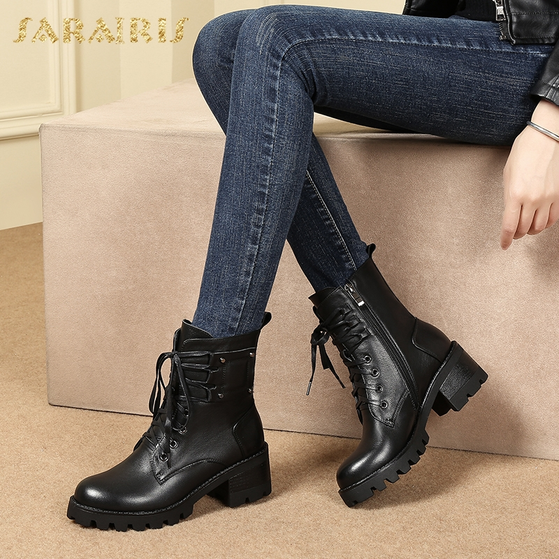 SARAIRIS dropship size 41 genuine leather street style square heel women Boots Shoes cow leather Boots Shoes WomanSARAIRIS dropship size 41 genuine leather street style square heel women Boots Shoes cow leather Boots Shoes Woman