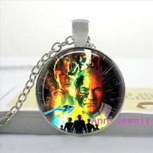W-0114 New arrival Fashion Star Trek Necklace Star Trek logo Pendant Science Glass Dome Necklace handmade jewelry pendants-1