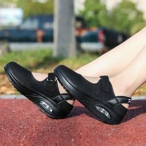 Image 5 - Кроссовки MWY женские сетчатые, дышащие, на платформе, с воздушной подушкой, повседневная обувь для медсестер, белые