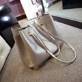 2017 Women Handbags Leather Ladies Beach Bag Pu Shoulder Bags Big Casual Tote Black Silver Bag Bolos