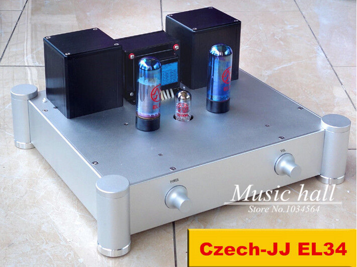 2017 The Lastest Music Hall Czech Jj El34 Hifi Amplifier Diy Stereo Cl A Valve Amp 10wx2 Finished Proeduct 110v 220v