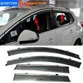 Stylingg Toldos Abrigos 4 pçs/lote Viseiras Da Janela do carro Para A Peugeot 4008 307 hatchback/sedan ect Sol Chuva Escudo adesivos Covers
