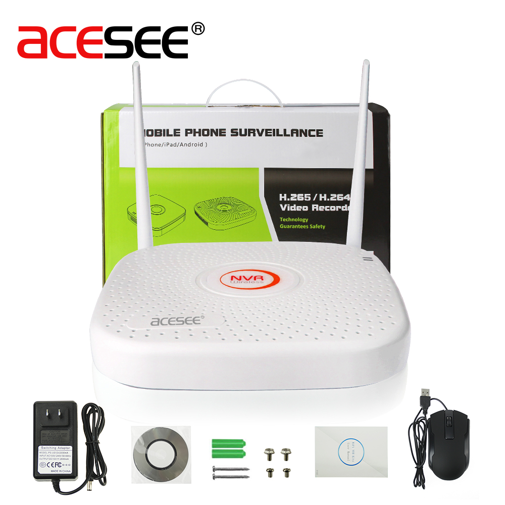 Acesee 9CH Hi3798 4K IP WIFI NVR Home Security Camera System Wireless Video Surveillance Recorder H