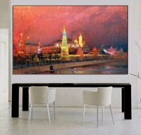 Handmade Beautiful City Landscape Oil Painting On Canvas Hang On The Wall Hand Painted Night City