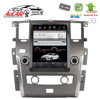 12.1 Tesla Style for Nissan Patrol with Android car gps system Bluetooth Radio WIFI 4G Vertical Stereo car dvd player