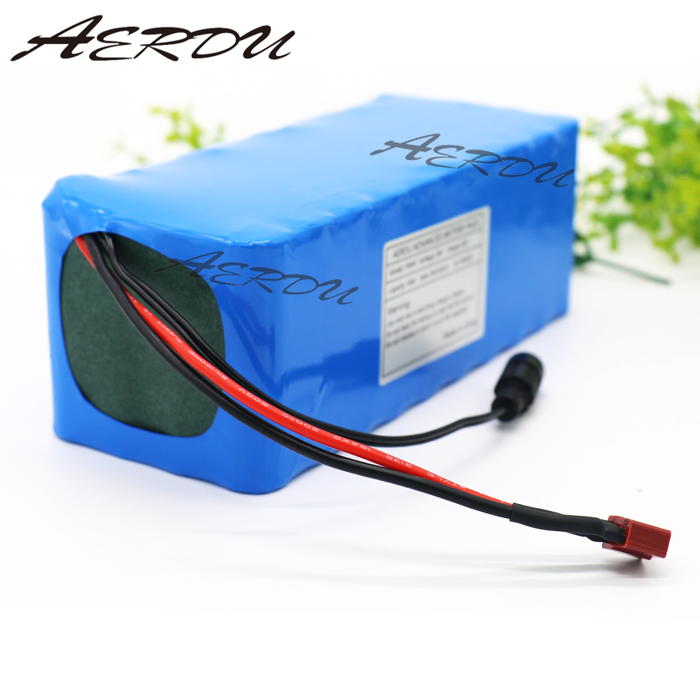 AERDU 36V 10S4P 10Ah 500W High power&capacity 42V 18650 lithium battery pack ebike electric car bicycle motor scooter with BMS|Battery Packs| |  - title=