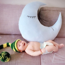 70 70cm 2017 New Blue Moon Plush Toys Baby Bed Home decorate At Home Pillow Cushion