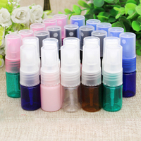 10 50 100pcs Empty PET Cosmetic Clear Plastic Mini Small Refillable Bottles Sprayer Atomizer Pump Head