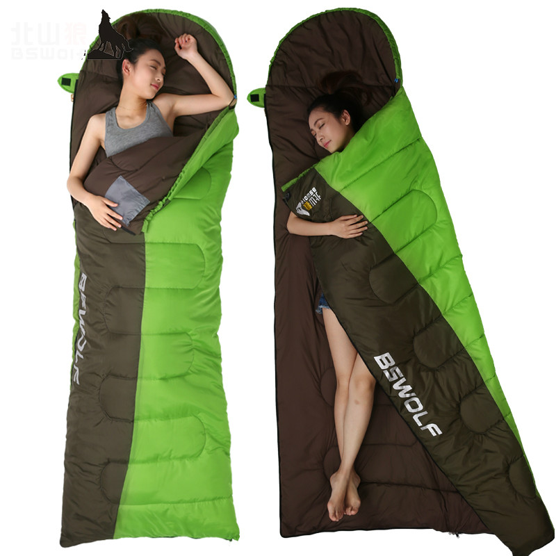 все цены на Hot selling outdoor envelope typ sleeping bag adult season cotton camping indoor lunch break thick portable travel sleeping bag