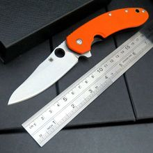 High Quality Selling C156 Folding Blade Knife G10 Titanizing Steel Handle Camping Hunting Survival Pocket Tactical Knives