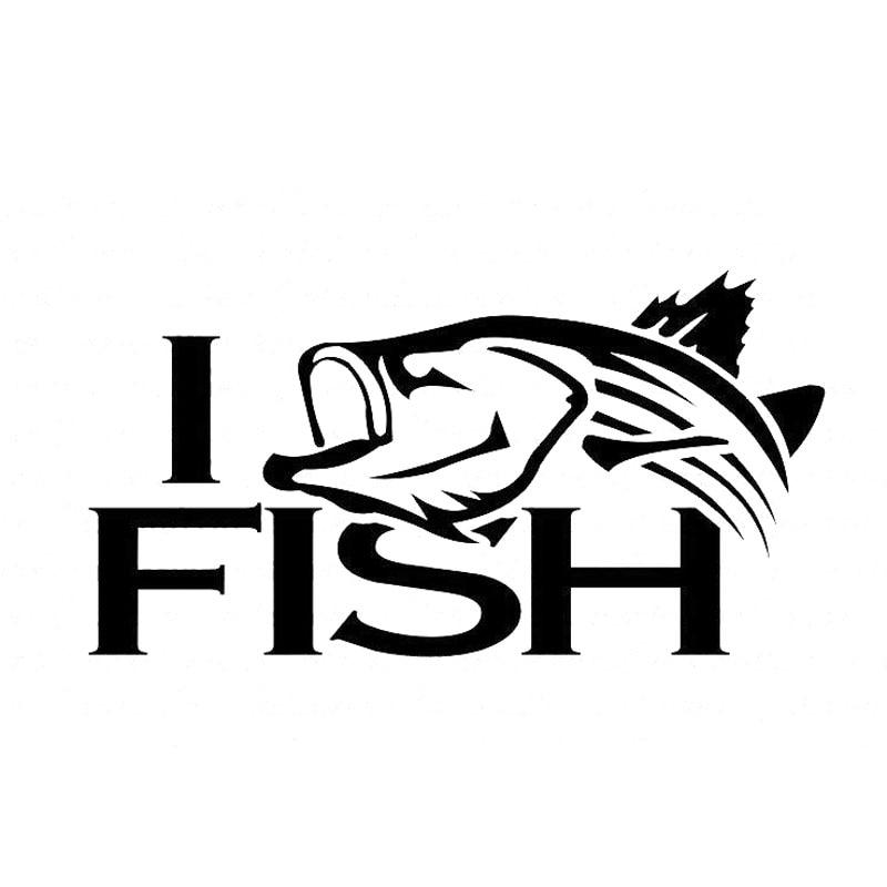 14.7CM*7.6CM Striper Striped Bass Fishing I Fish Car Stickers Vinyl Decal Sticker Acessories Decoration
