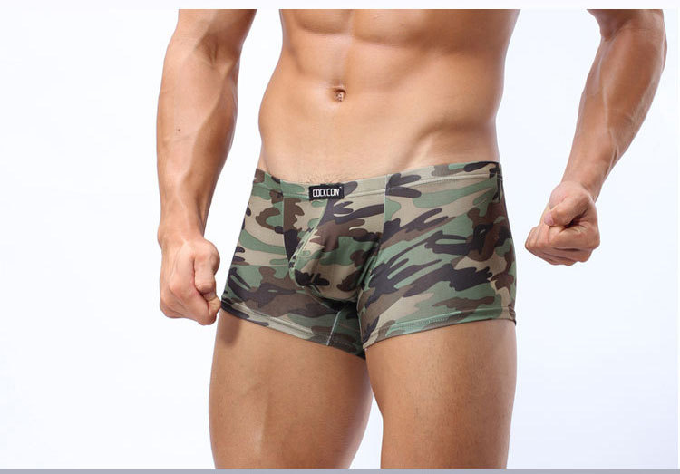 Boxers  Hot Sale Stand Out Penis Boxer Shorts Cockcon Men Underwear Camouflage Sexy Boxer Underwear Mens Mlxl In Boxers From Underwear Sleepwears