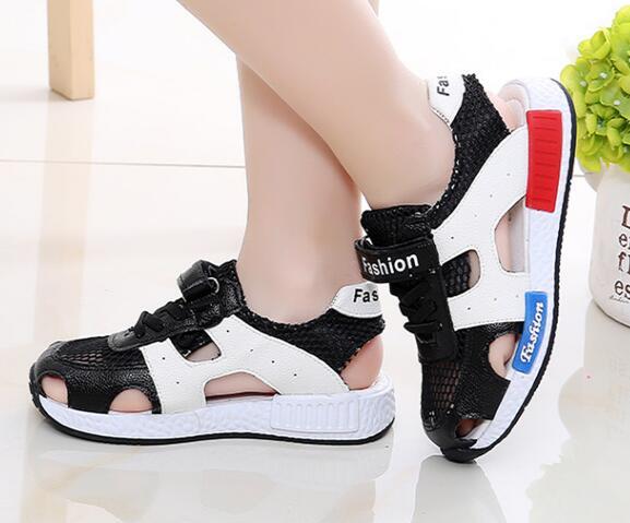 887ba396d hot 2018 summer fashion children s beach shoes girls boys sandals non-slip  soft bottom hollow mesh breathable sandals
