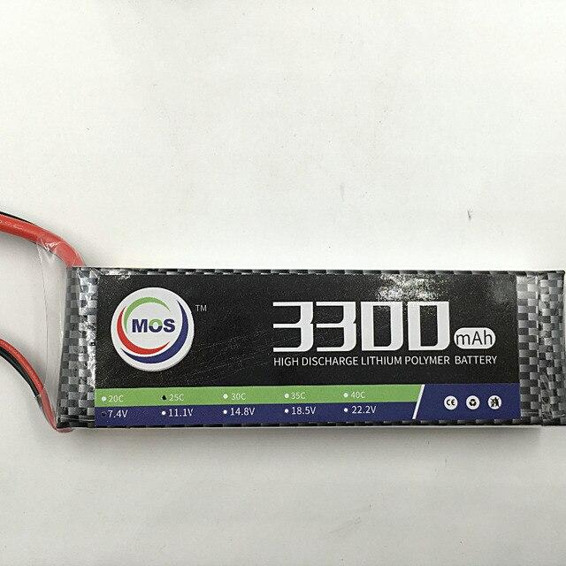 MOS 3 S lipo аккумулятор 11.1 В 3300 мАч 35C Для rc самолет бесплатная доставка