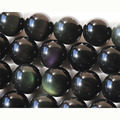 "Atacado Natural Genuine Flash Rainbow Obsidian Rodada Contas de Pedra Solta 3-18mm Jóias Fit DIY Colares ou Pulseiras 15 ""02666"