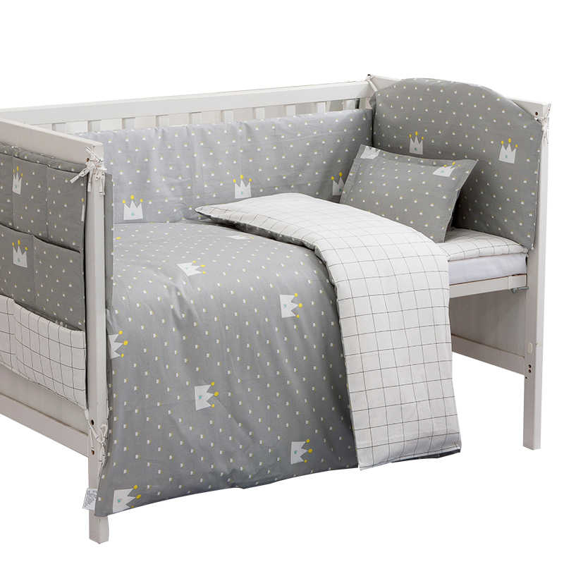 unisex baby bedding sets grey cotton