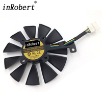 New 88MM PLD09210S12HH Cooling Fan For ASUS STRIX RX 480 580 GTX 1050 1070 1080 1080Ti