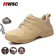 Man Safety Shoes Work Shoes Man Work Boots Steel Toe Cap Shoes Anti-Puncture Proof Outdoor Construction Safety Sneakers for Man 2018 women work safety shoes steel toe puncture proof safety work boots for women pink safety toe casual outdoor work shoes