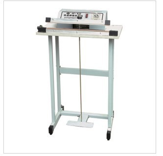 SF-1000 Pedal Sealing Machine For Plastic Bag With The Knife Cutting Function , Pedal Impulse Plastic Bag Sealer