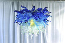 Free Shipping High Ceiling Murano Glass Chandelier With LED Bulbs