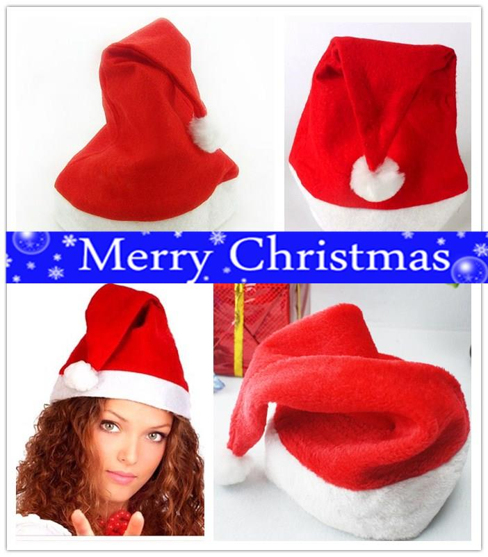 1PC Santa Hats For Christmas Decoration Kids Christmas Hats Gifts Party Festival Home Lady Christmas Caps Winter Decor Navidad